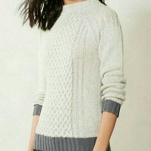 Anthropologie Sparrow Cable Knit Sweater M